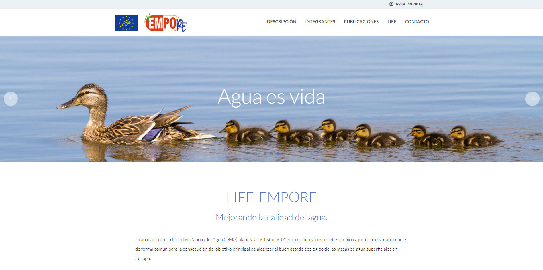 LIFE-EMPORE website is already available¡